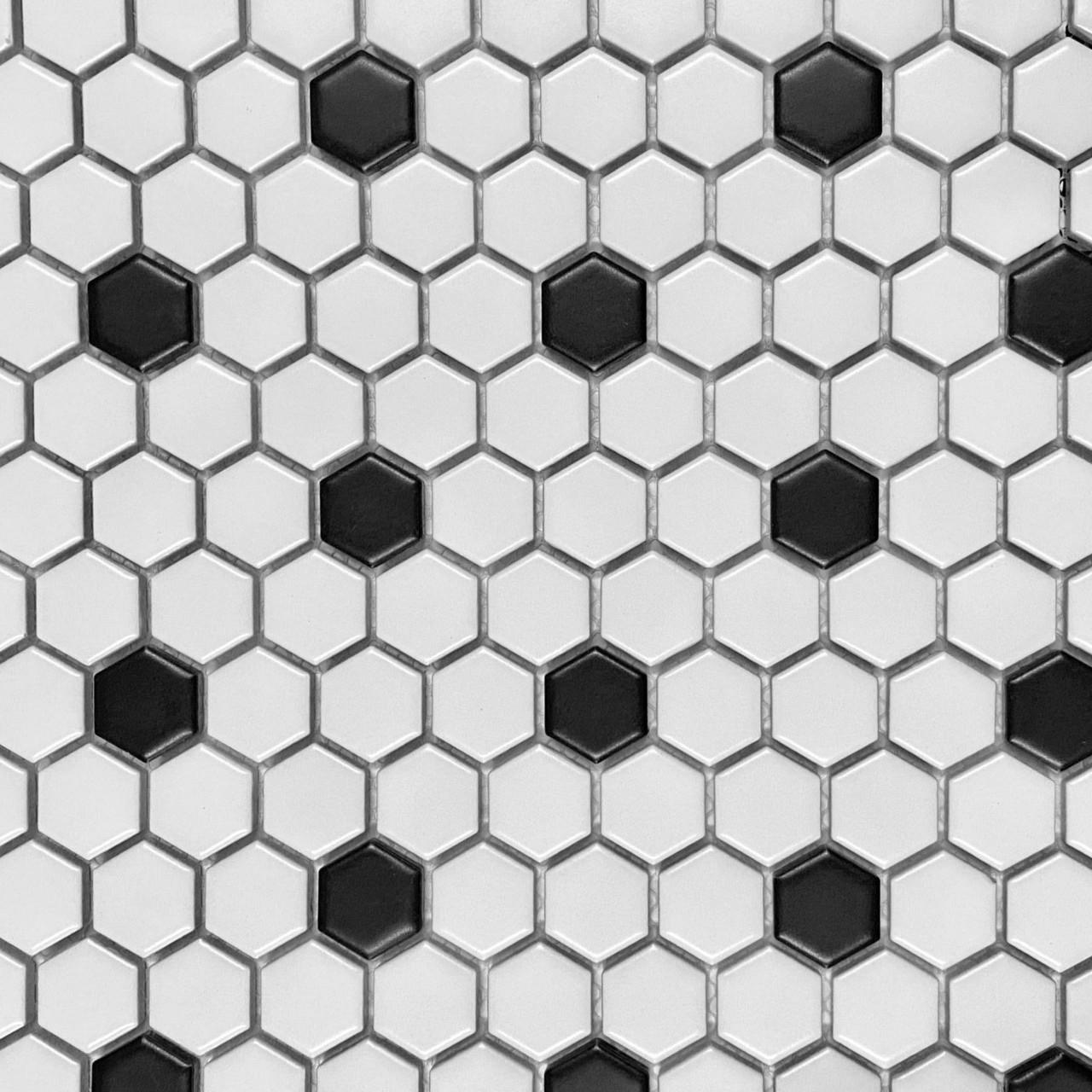 https www tilesdirect net retro mosaics black white matte 1 hexagon mosaic