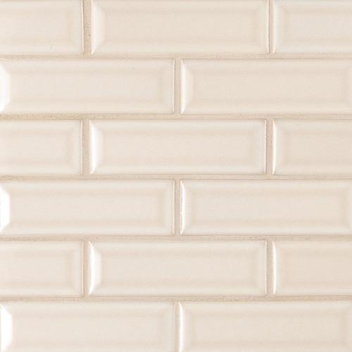 highland park antique white 2x6 beveled mosaic