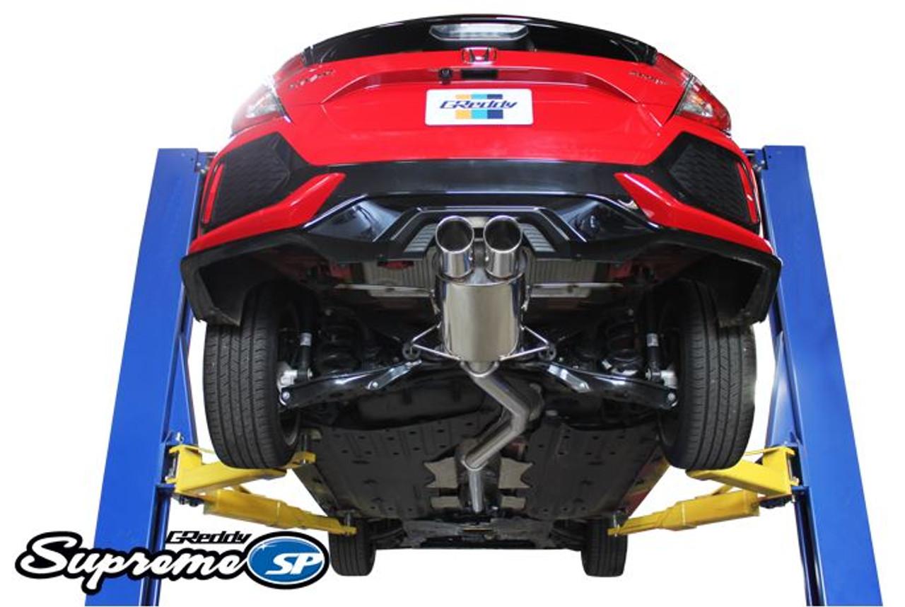greddy supreme sp exhaust system honda civic hatchback sport only 2016 2020