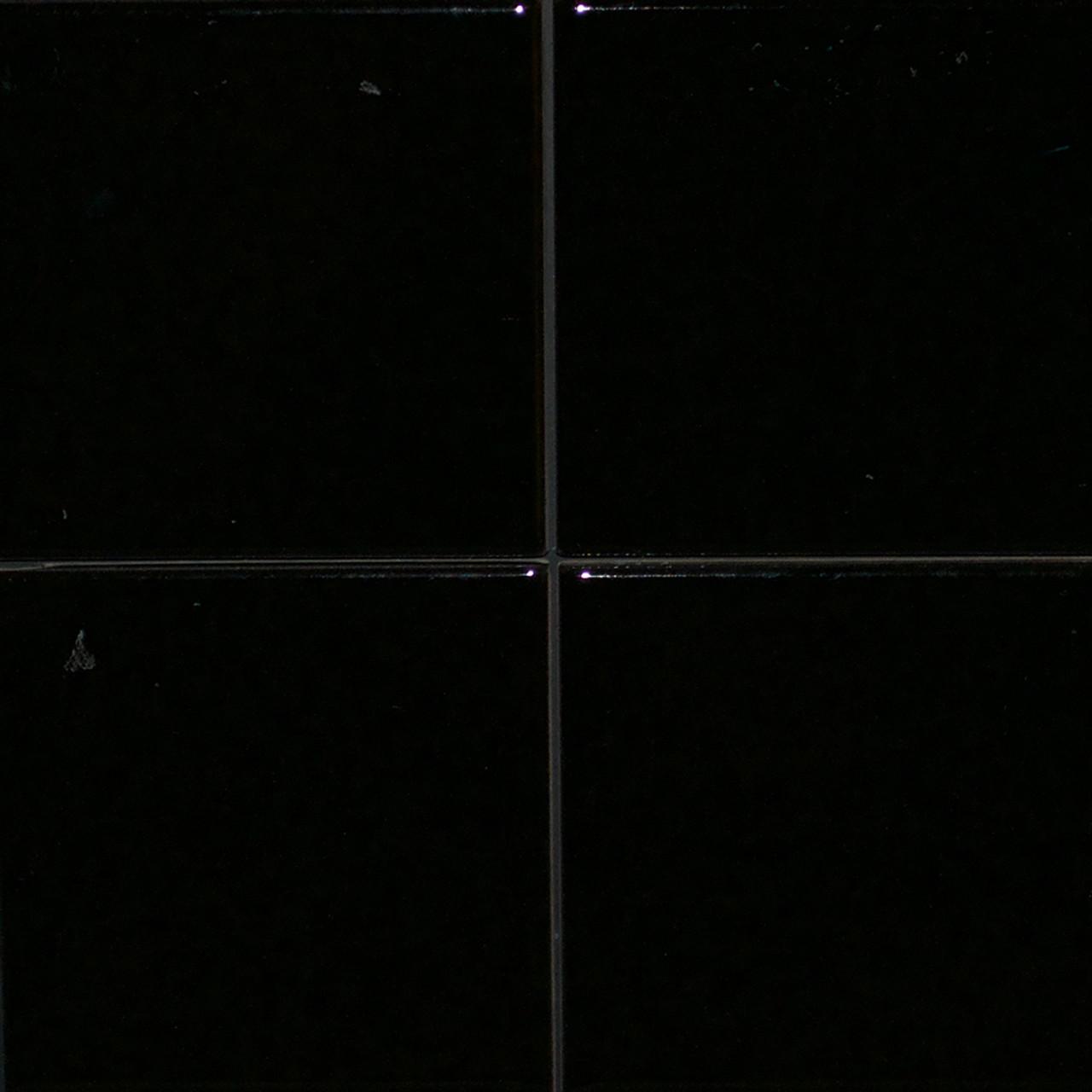 retro negro brillo tile 10cm x 10cm was 30 sqm now 9 sqm