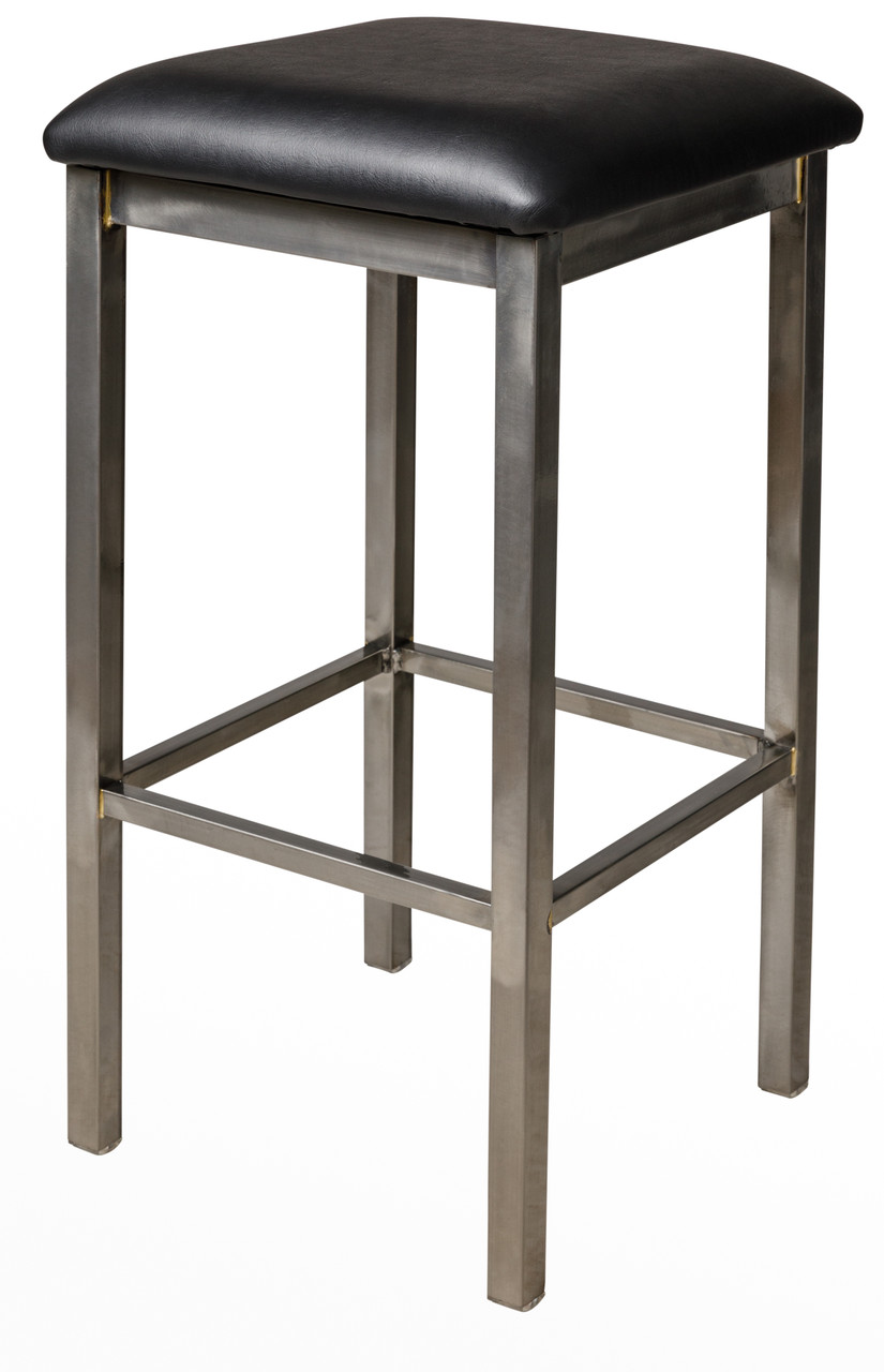 Bfm Seating Trent Metal Backless Restaurant Bar Stool With Padded Seat 2510b Pub Bar Stools Commercial Bar Stools