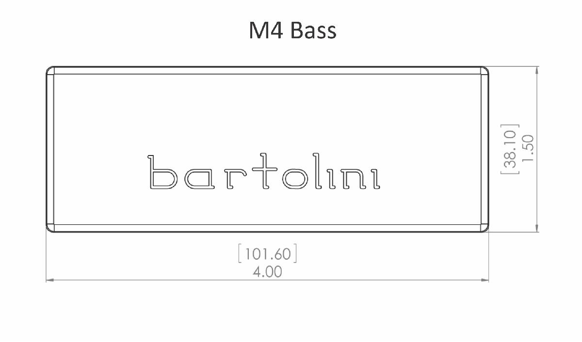 medium resolution of  bartolini 72m45c t 5 string m4 soapbar dual coil bridge pickup emg 40 shape