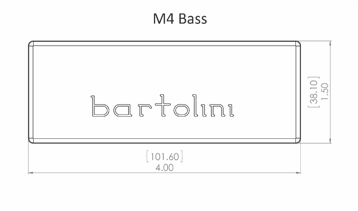 hight resolution of  bartolini 72m45c t 5 string m4 soapbar dual coil bridge pickup emg 40 shape
