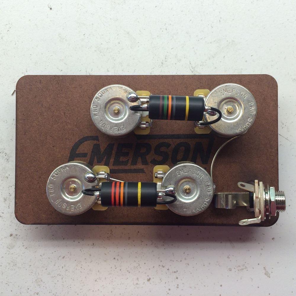 emerson custom tele deluxe prewired kit 500k pots  [ 1000 x 1000 Pixel ]