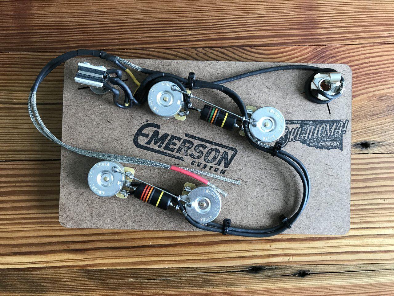hight resolution of emerson custom es 335 prewired kit 500k pots