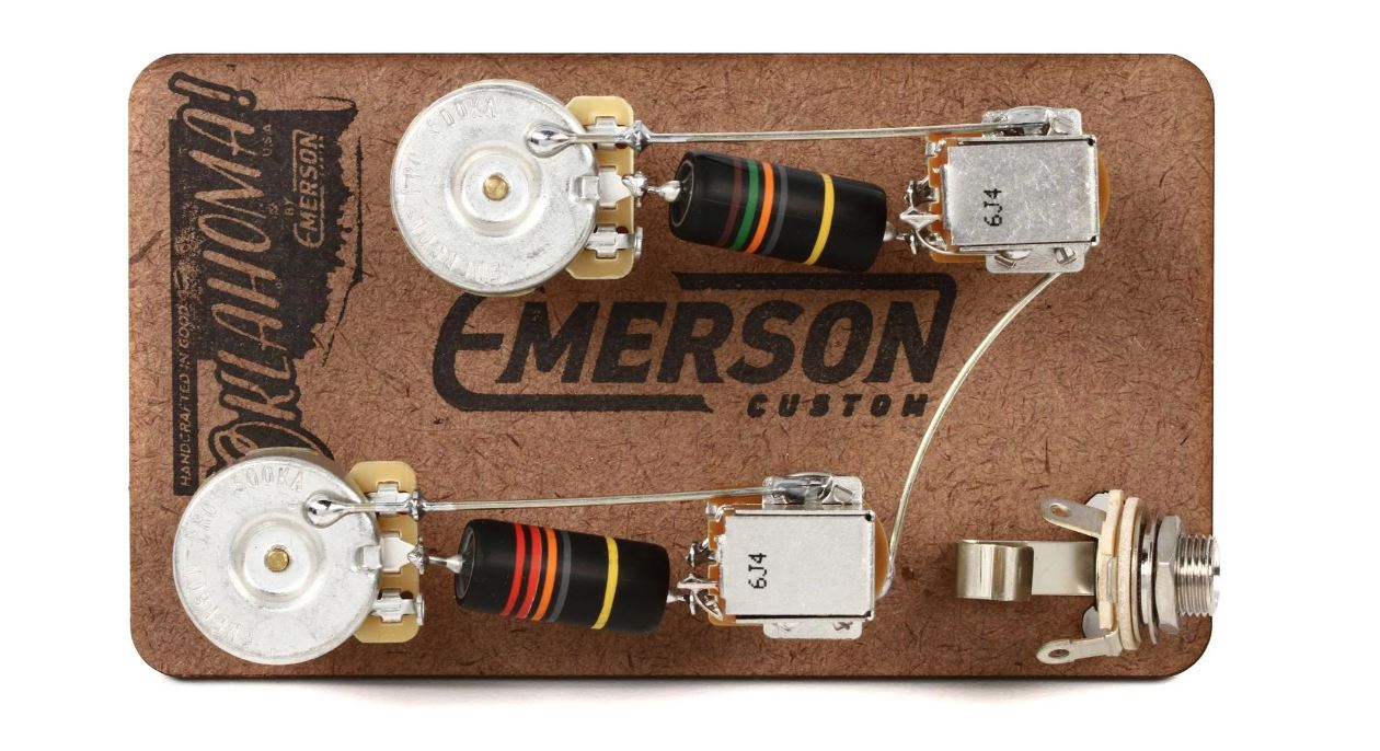 emerson custom les paul prewired kit push pull long shaft 500k pots [ 1260 x 686 Pixel ]