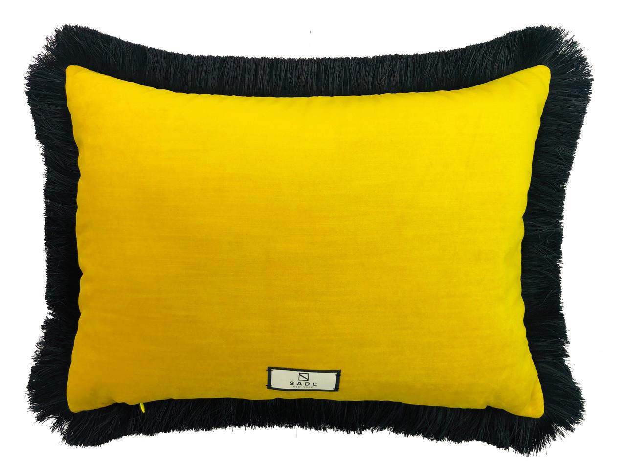 velvet lumbar tiger embroidery design pillow