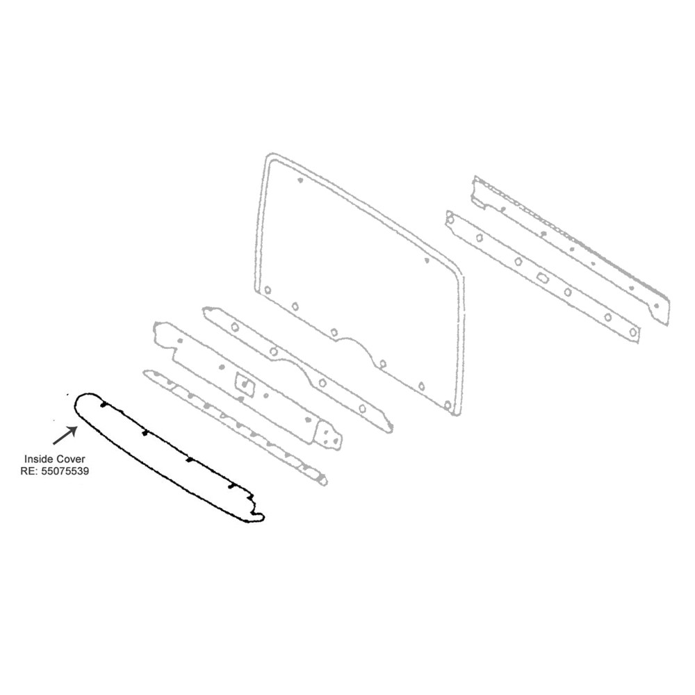 hight resolution of  nos 90 95 yj hardtop lower liftgate trim collins bros jeep on 2004 jeep wrangler wiring wiring diagram