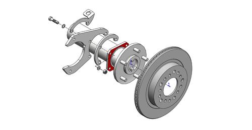 GM 7187 C10 Rear Disc Brakes (5lug)  Little Shop Mfg