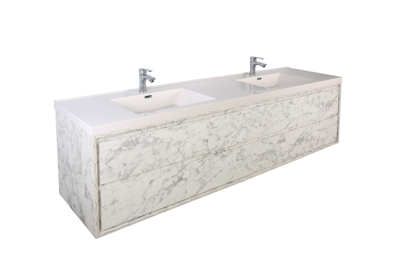 molly 72 double sink marble grey wall mounted modern vanity