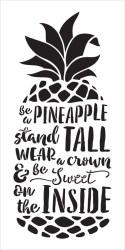 pineapple stencil tall sweet word studior12
