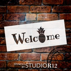 stencil pineapple welcome word studior12 related