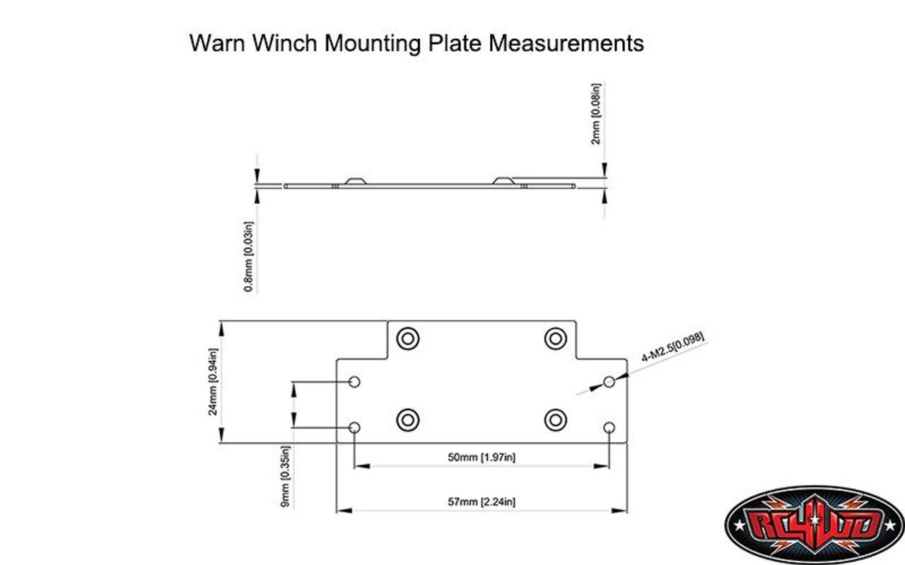 medium resolution of  rc4wd 1 10 warn 8274 toy winch free spool very powerful z e0075 rc
