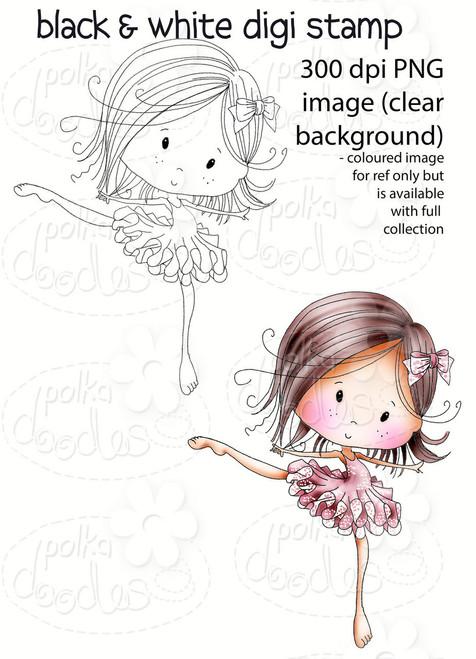 Dancing Queen Winnie Fruit Punch Printable Digital Craft Stamp Download Digiscrap Polkadoodles Ltd