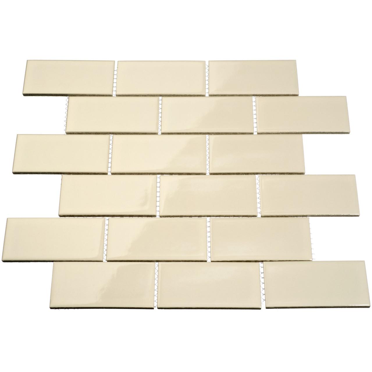 giorbello porcelain subway tile 2 x 4 beige