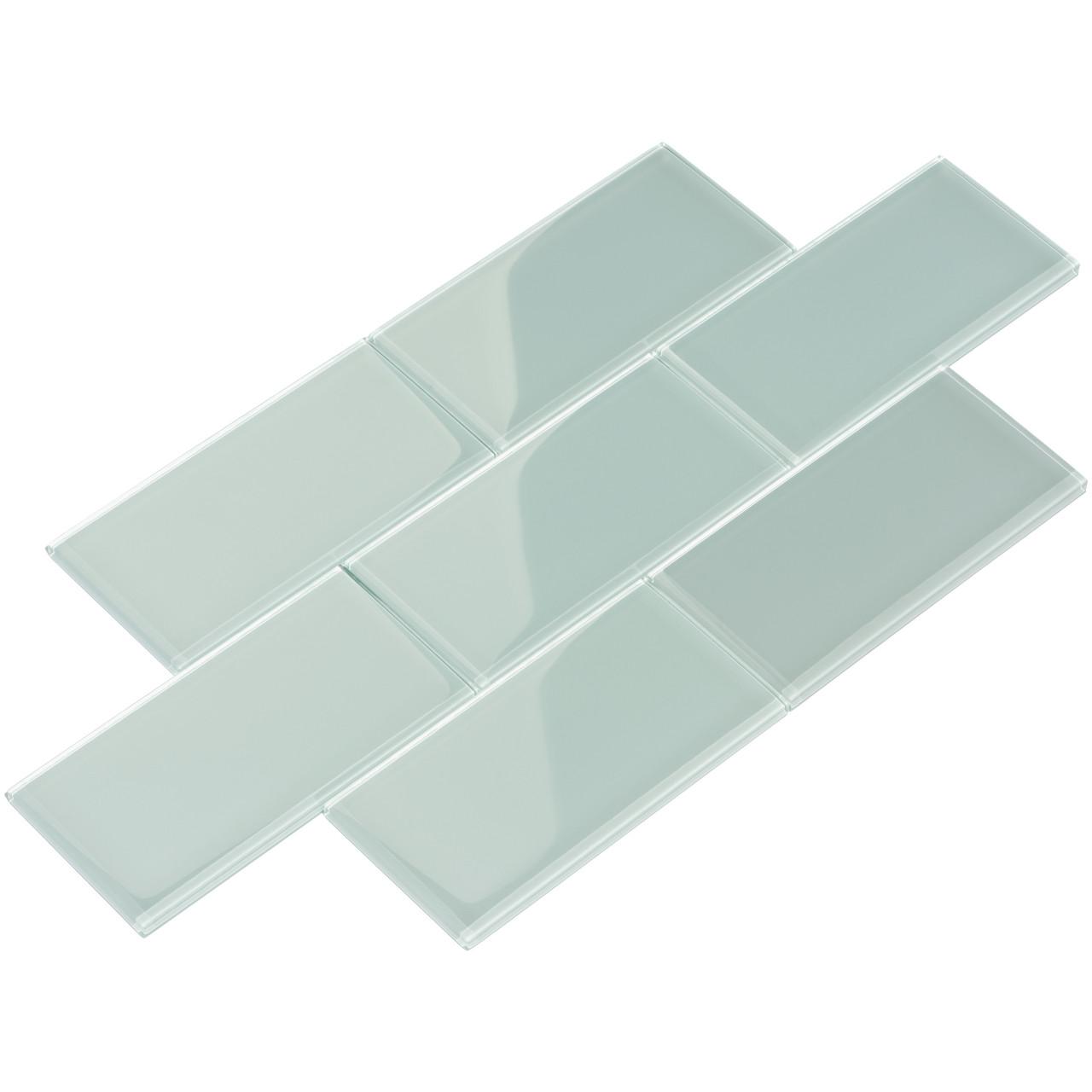giorbello glass subway tile 3 x 6 baby blue