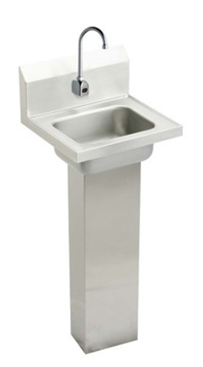 elkay chsp1716sacc hand wash up commercial sink pedestal mounted sensor faucet package 16 3 4 x 15 1 2 x 13