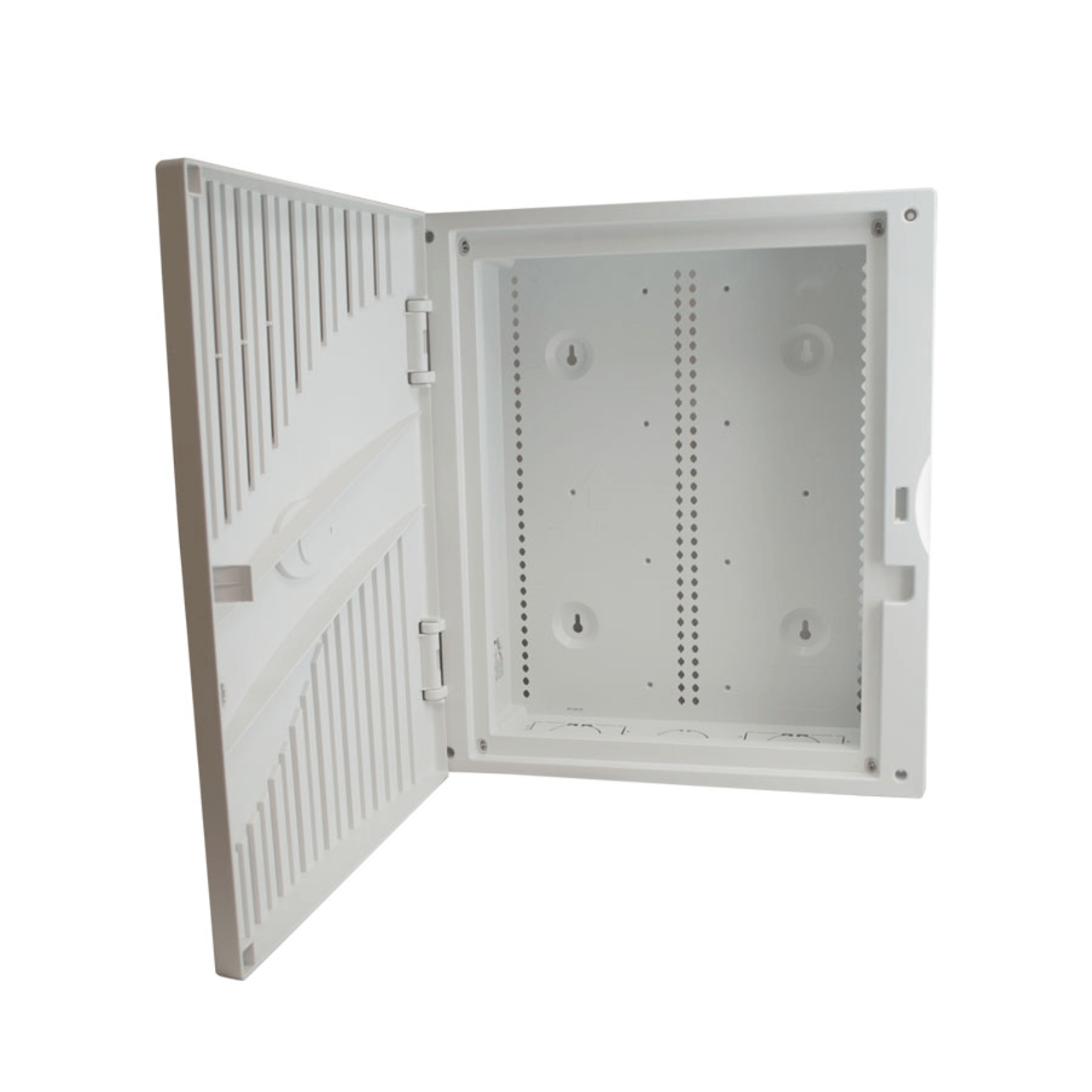 medium resolution of hcc 18 kit ecpl 18 plastic in wall or on wall structured wiring enclosure