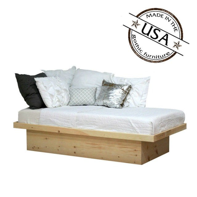 Twin Platform Bed In Pine