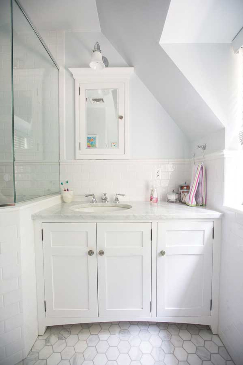 Custom Built In White Bathroom Vanity Gothic Furniture