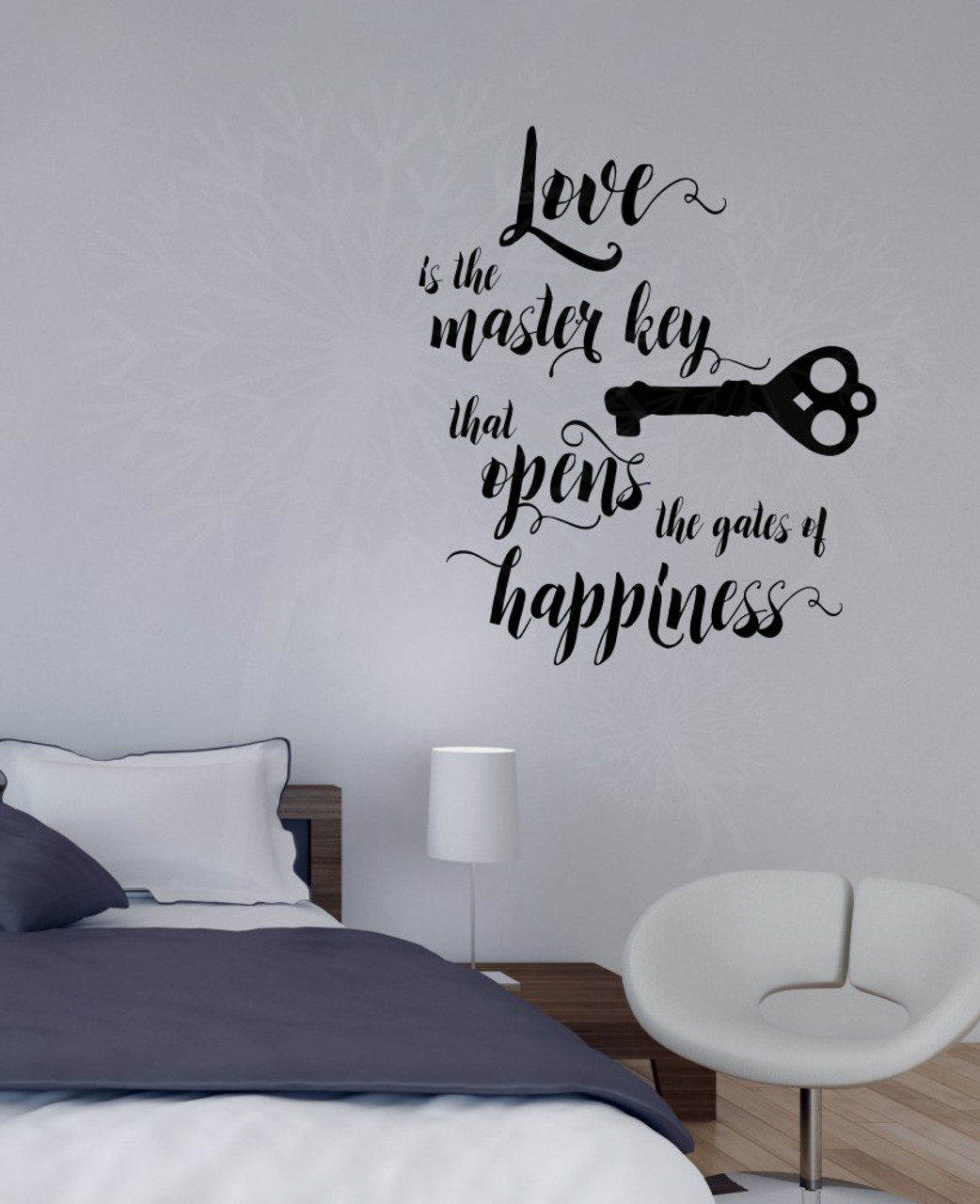 Love Is The Key Vinyl Lettering Decals Wall Sticker Art