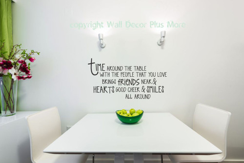 Time Around The Table Kitchen Stickers Quote For The