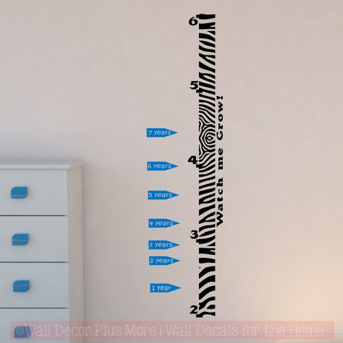 Extra age arrows for wall growth chart decals track height on ruler pc traffic also rh walldecorplusmore
