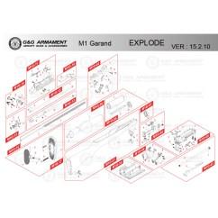 M1 Rifle Diagram Warn Atv Winch Parts G Airsoft Garand Mir Tactical