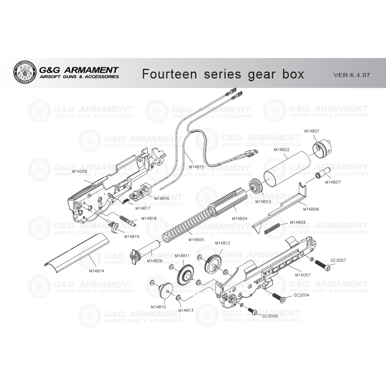 small resolution of g g airsoft fourteen series gearbox diagram