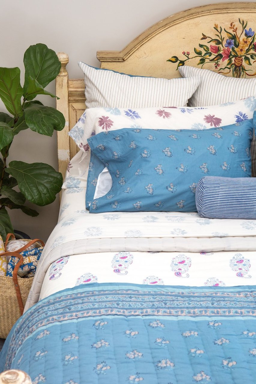 king pillow case one pillow case in nami light blue floral