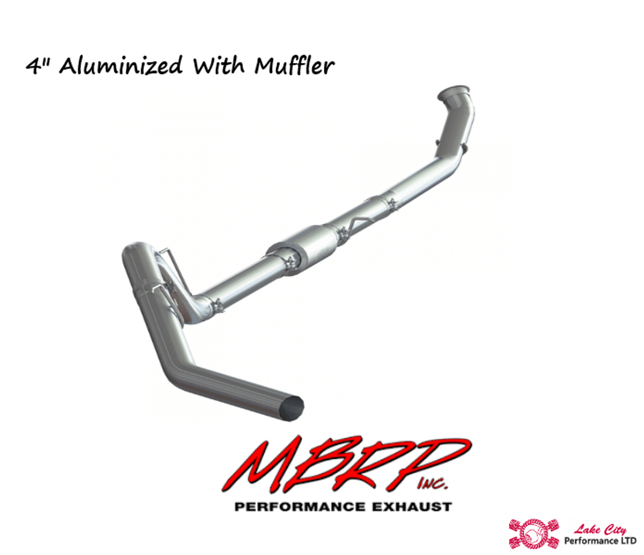 2013 2018 dodge ram2500 3500 6 7l mbrp p1 race parts 4 turbo back aluminized race exhaust with muffler includes free tip c6145p