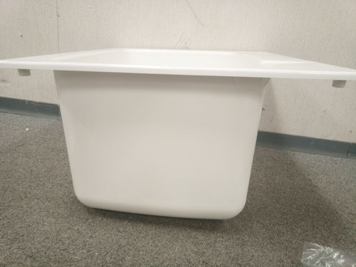 mustee 10 21 3 8 x 15 3 4 in bowl size drop in utility sink w out faucet 15730564