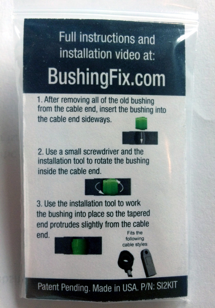 medium resolution of chevrolet tahoe transmission shift cable bushing repair kit with easy to follow instructions