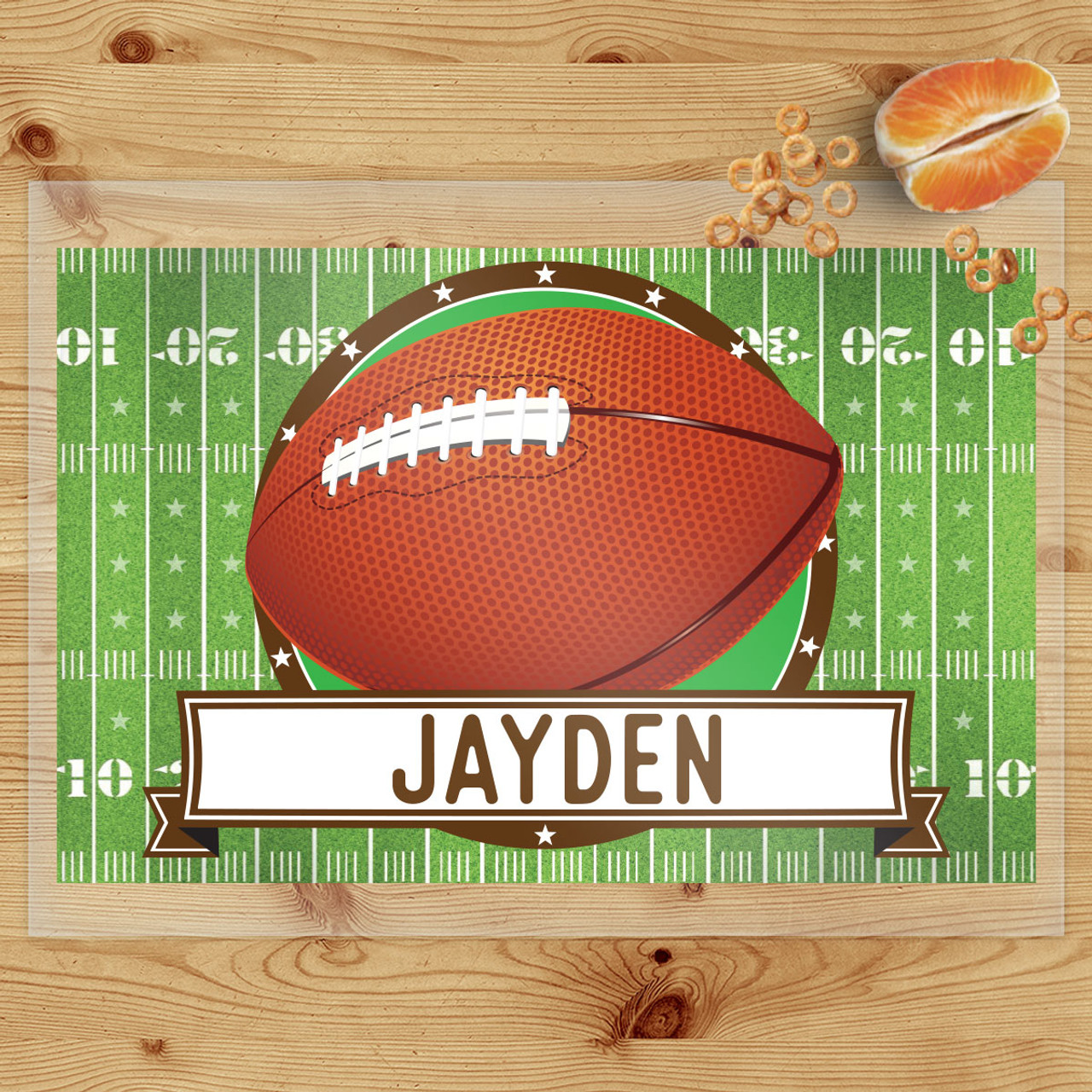 personalized classic football laminated