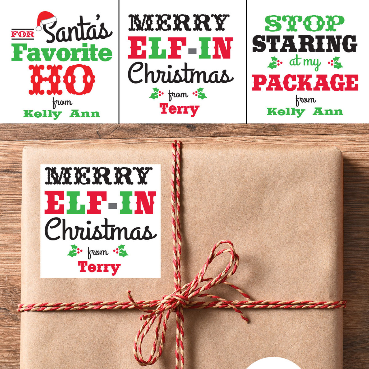 personalized merry elf in
