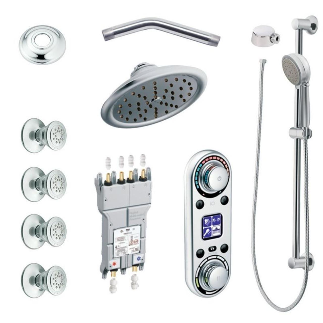 Moen Kspio Hsb Ts295cr Vertical Spa Kit With Handheld Shower And Slide Bar