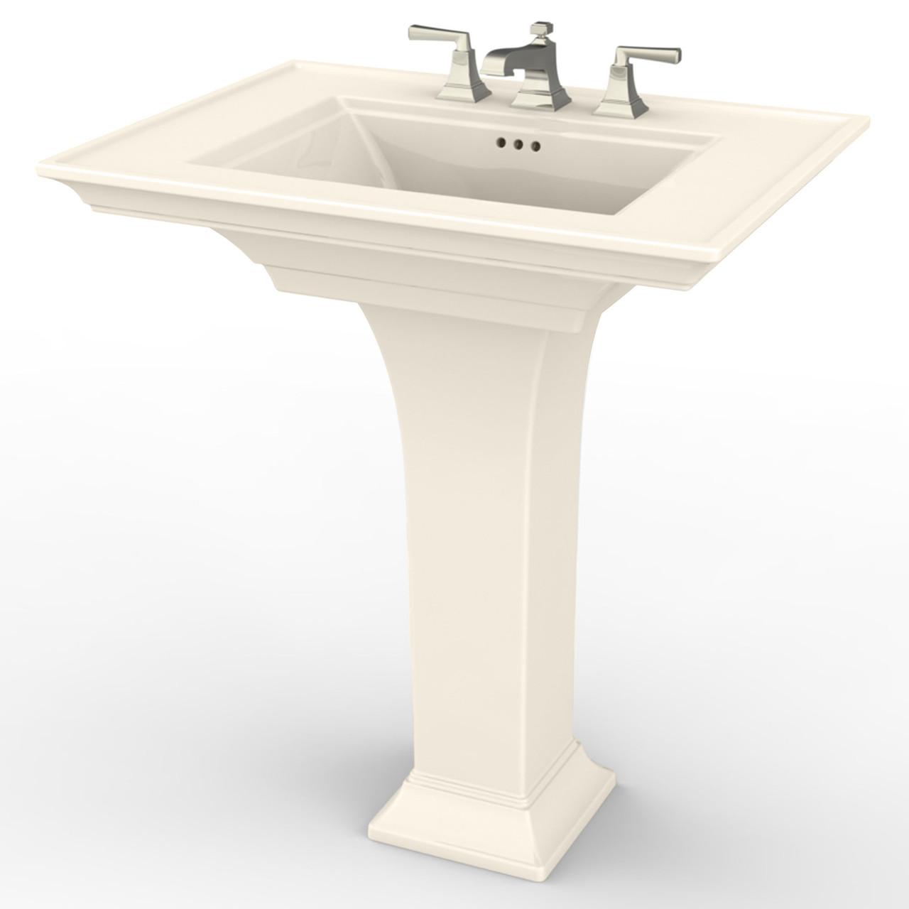 american standard 0297800 222 town square s fine fireclay 30 in rectangular pedestal sink