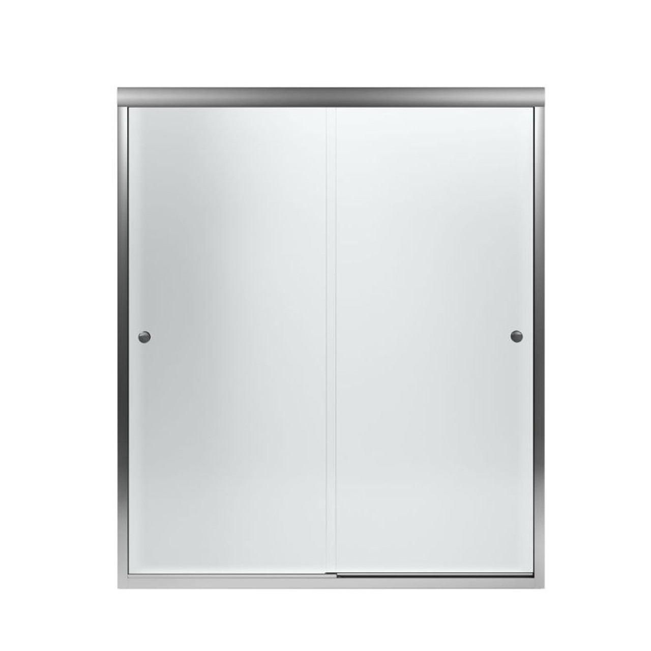 Sterling 5477 59s G03 Finesse 54 625 To 59 625 In X 70 0625 In Frameless Sliding Alcove Shower Door With Frosted Glass
