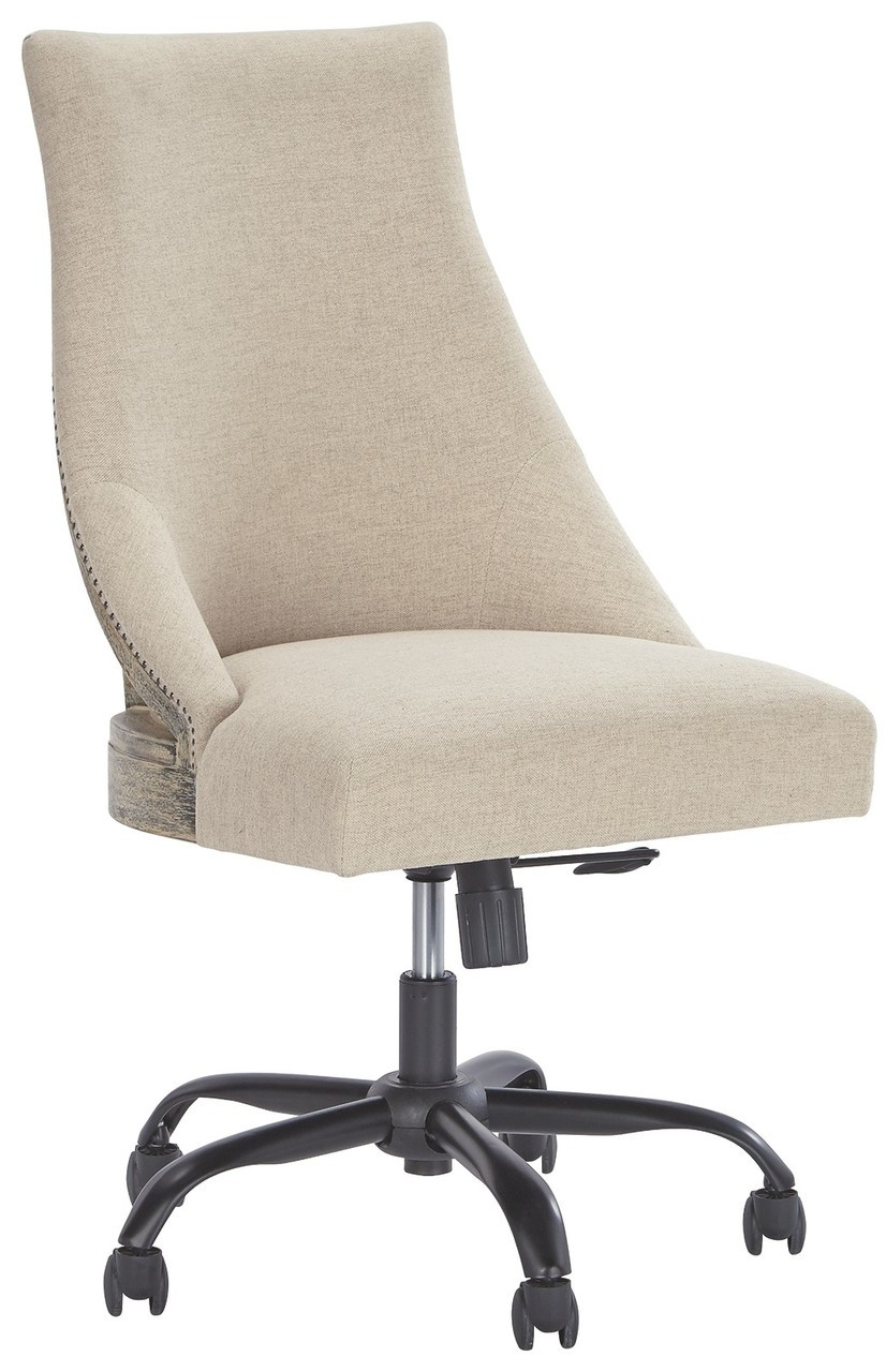 Linen Office Chair Home Office Linen Swivel Desk Chair