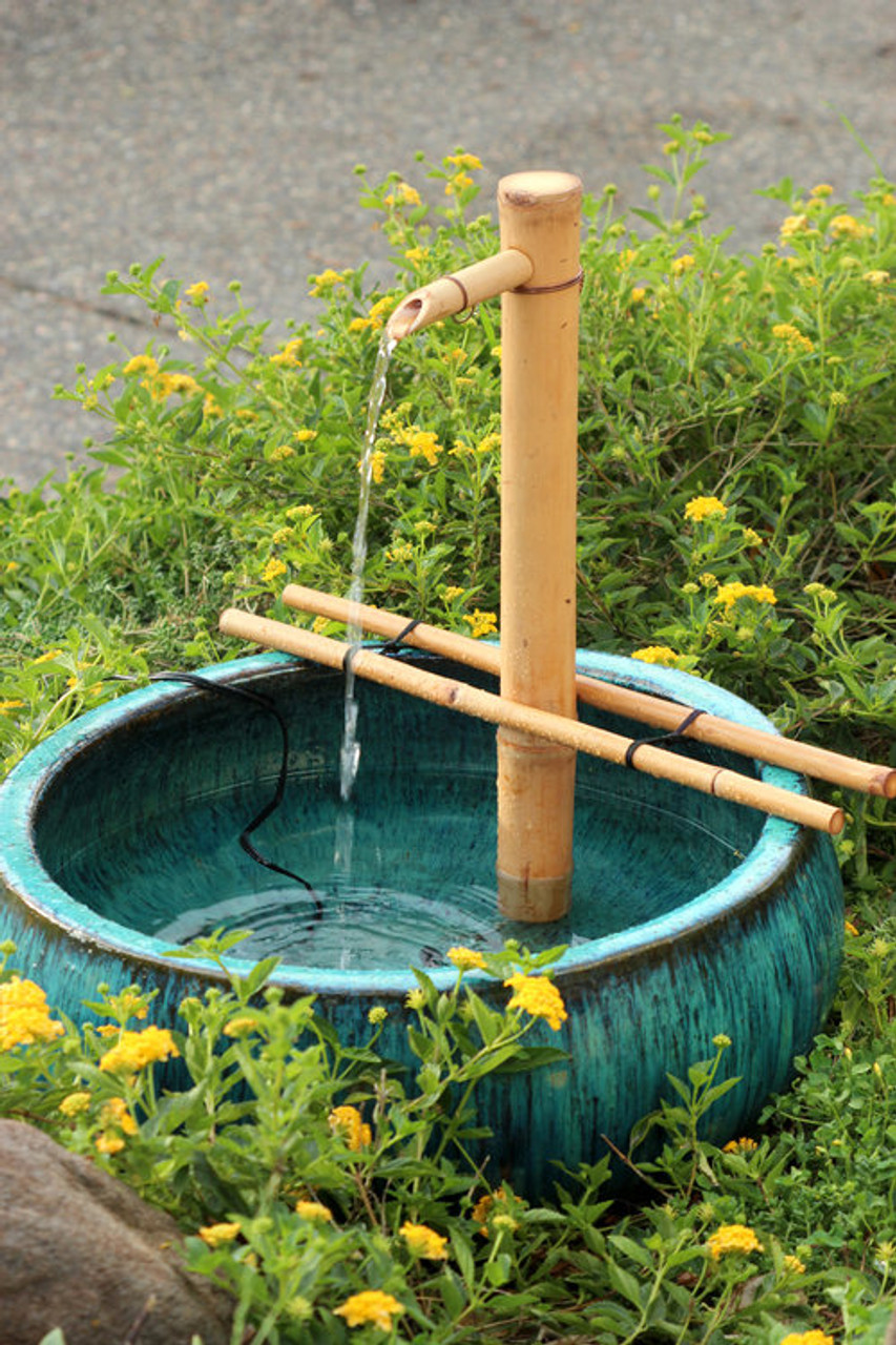 "Bamboo Fountain And Pump Kit - 18"" Style Hawaii"
