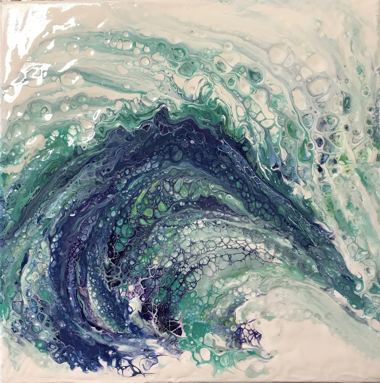 abstract ocean wave hawaiian