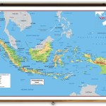Indonesia Physical Educational Wall Map From Academia Maps