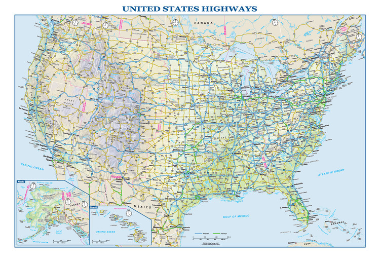 The original was edited by user:andrew c to include nova. Us Interstate Wall Map