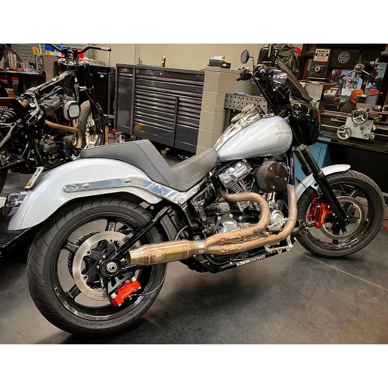 horsepower inc stainless exhaust for 2018 2020 harley softail