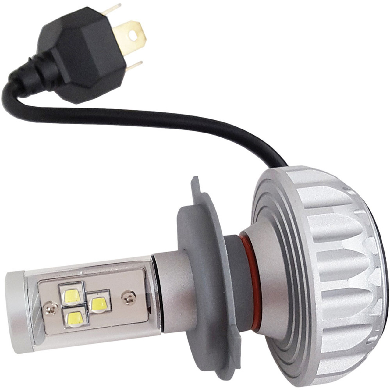 small resolution of pathfinder performance h4 led headlight bulb for harley get lowered cycles