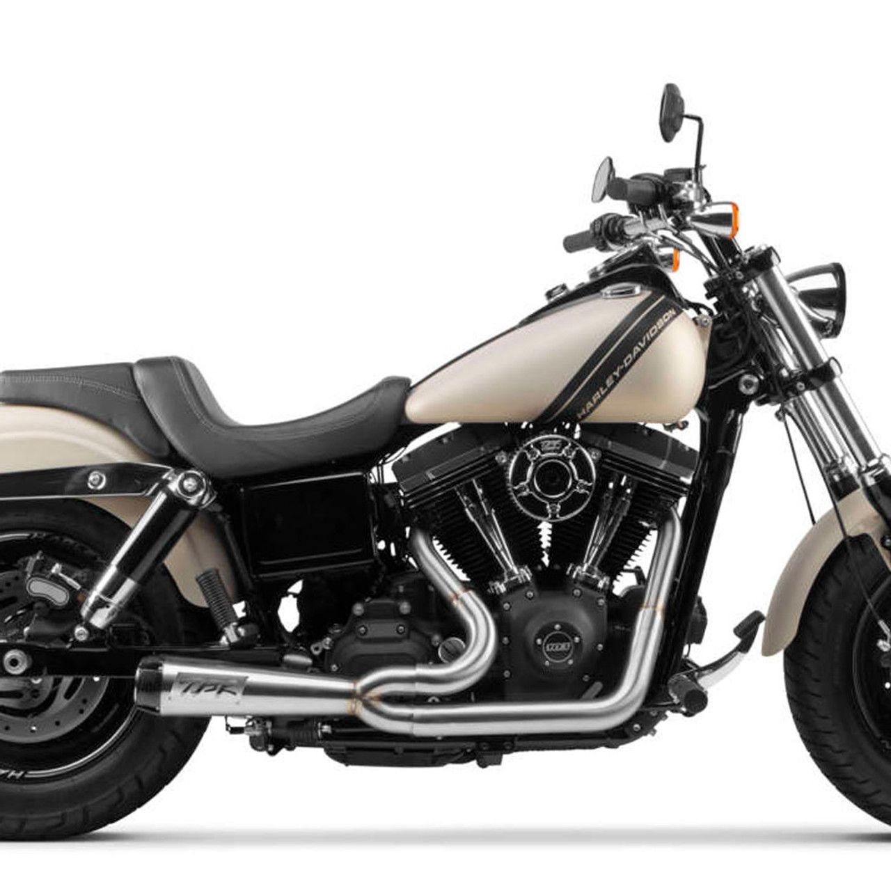 two brothers racing 2 into 1 comp s exhaust for 2006 2017 harley dyna stainless with carbon fiber tip