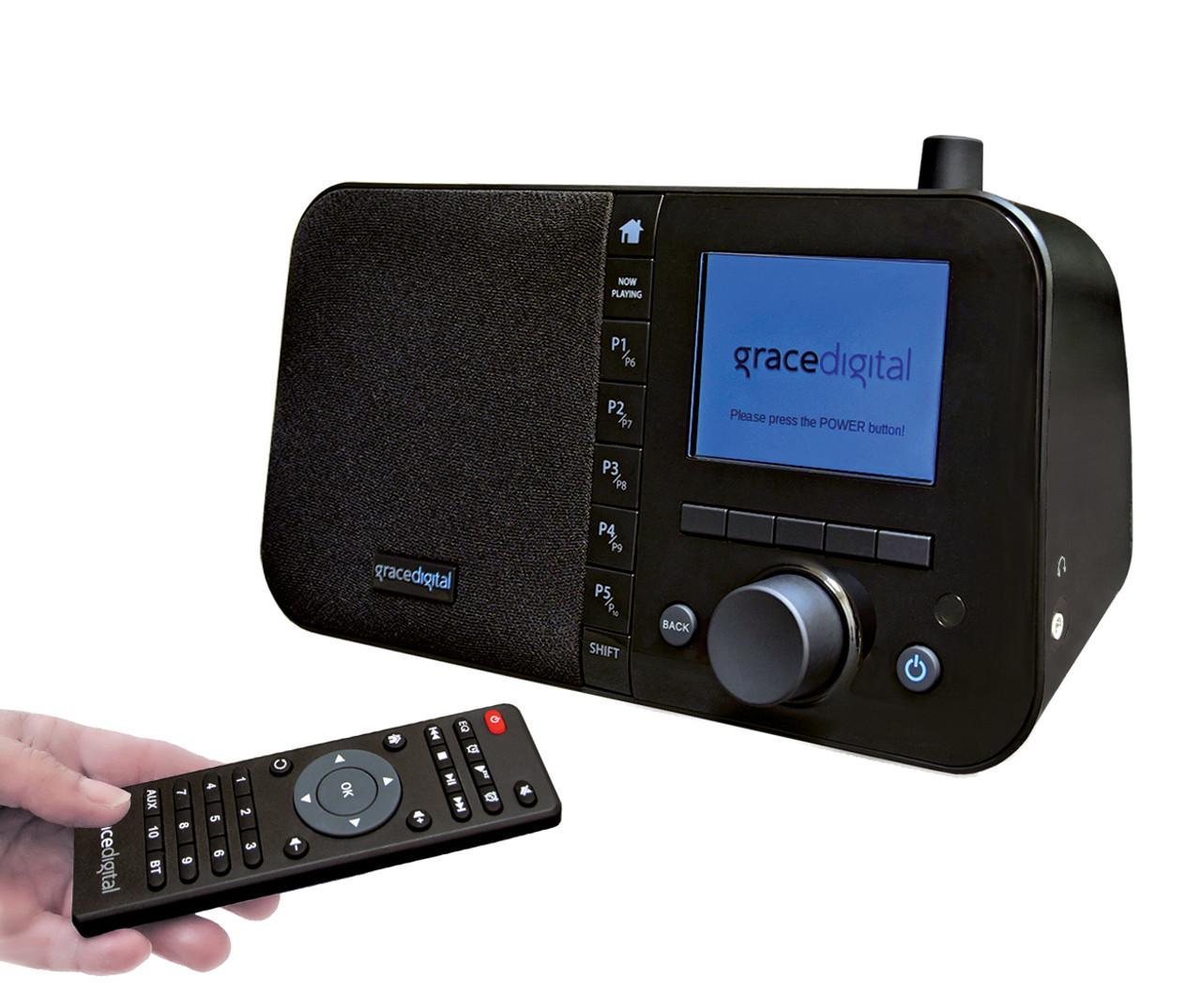 Gracedigital Mondo Elite Wifi Internet Radio Alarm Clock With Bluetooth Iheartradio Npr And Radio Com