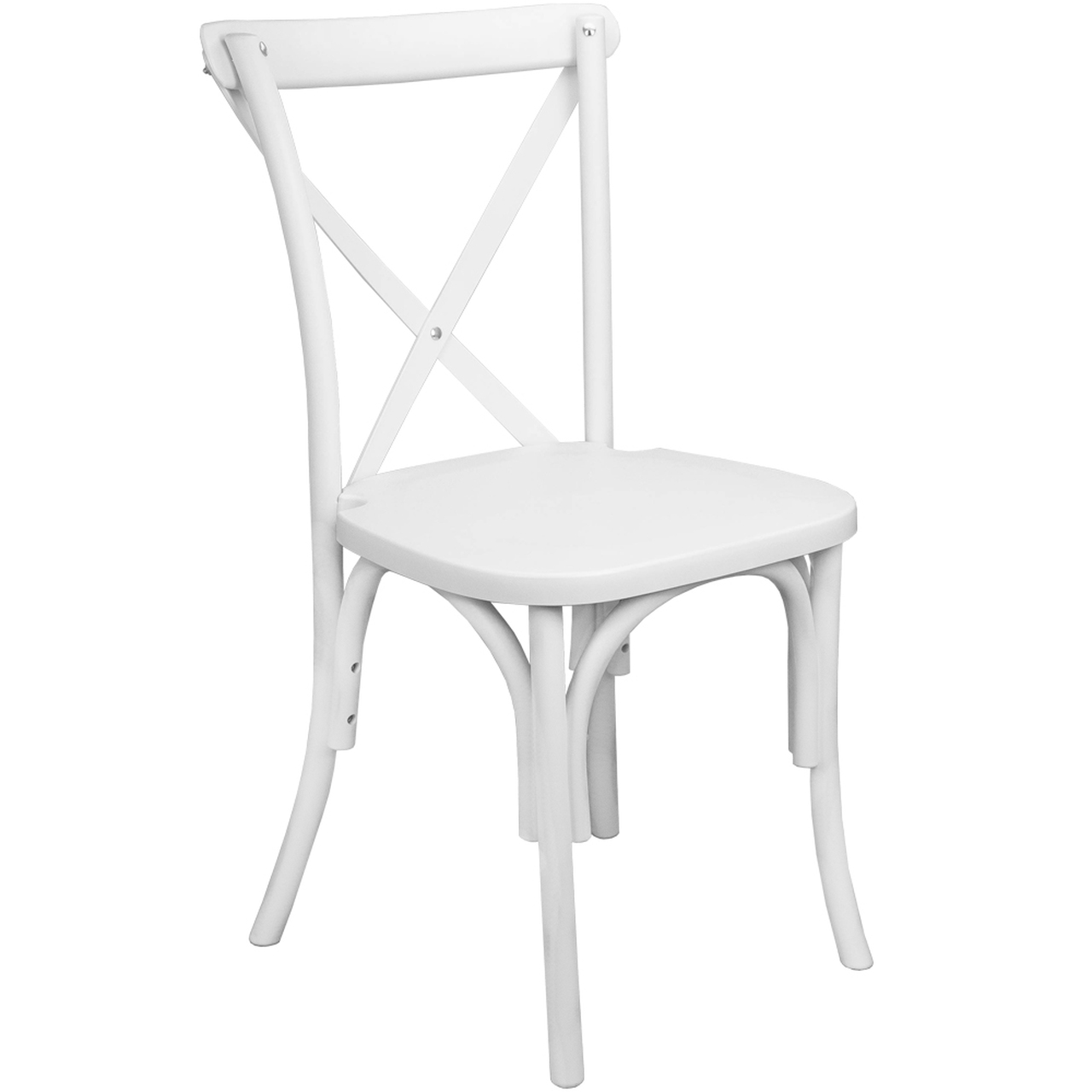 white x back chair pottery barn black windsor chairs resin cross