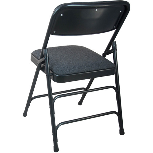 black padded folding chairs chair yoga class sequence fabric dpi903f blkblk advantage 1 in seat