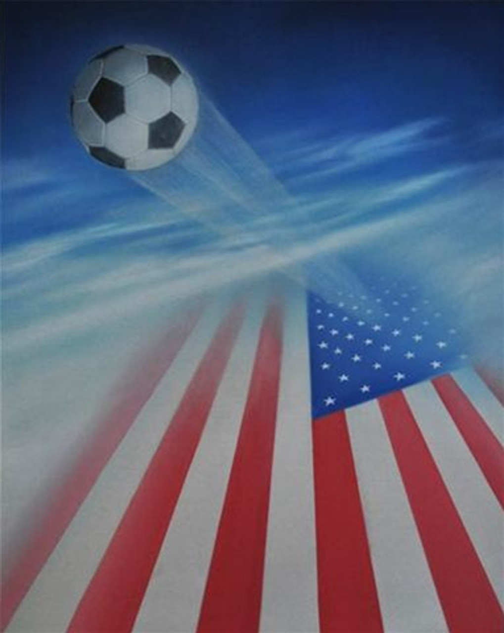 american flag and soccer